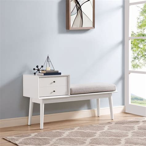 white entryway bench landon rc willey furniture store