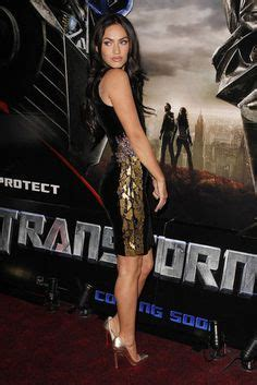 Versace Dress On Megan Fox In A Poster by Megan Fox On Megan Fox Megan