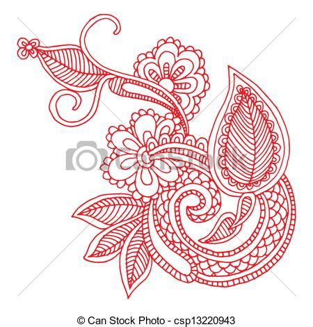 Embroidery Clipart Designs eps vector of neckline embroidery design floral