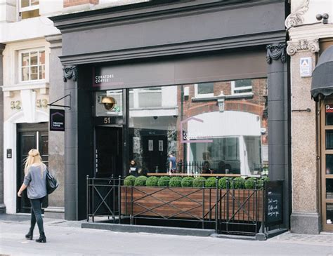 small coffee shop exterior design curators coffee gallery coffee shop in fitzrovia london