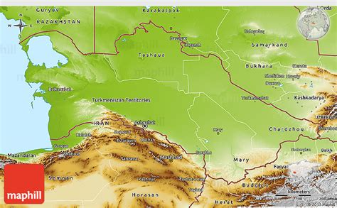 physical map of turkmenistan physical 3d map of turkmenistan