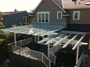 is the deck roof paneling glass