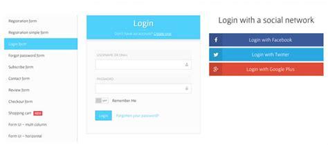 30 beautiful html css login registration form templates
