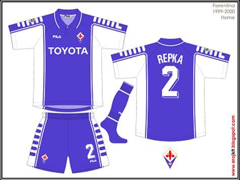 Fiorentina Home 6 kit design by eroj 1999 2000 fiorentina home away e third