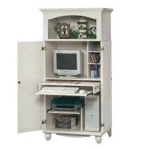 White Computer Armoire Antique White Shutter Door Computer Desk Armoire Office