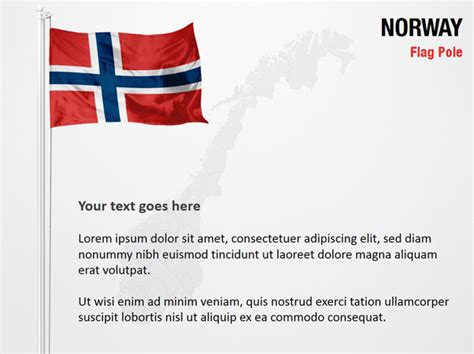 powerpoint themes norway norway flag pole powerpoint map slides norway flag pole