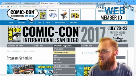 tools like builtwith google page speed tool comic con website review and