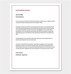 Cancellation Apology Letter Apology Letter For Cancellation Sles Exles Formats