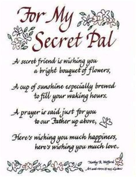 secret friend poem gifts from my secret secret ideas