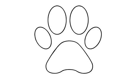 how to draw a puppy paw how to draw a paw easy