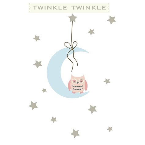 twinkle twinkle wall stickers twinkle twinkle fabric wall stickers by littleprints notonthehighstreet