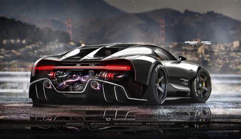 koenigsegg mansory bugatti chiron racecar rendering looks phenomenal reminds