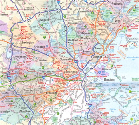 map of boston ma massachusetts map including boston and counties