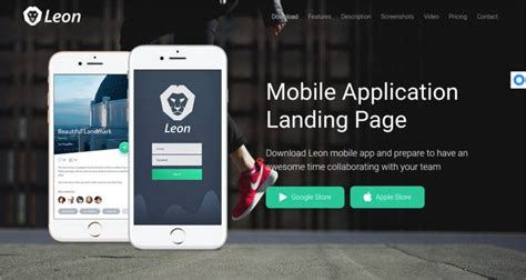 14 Best Mobile App Landing Page Templates Free Premium Templates Mobile Landing Page Template