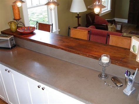 breakfast bar tops concrete counter top with wood breakfast bar top add