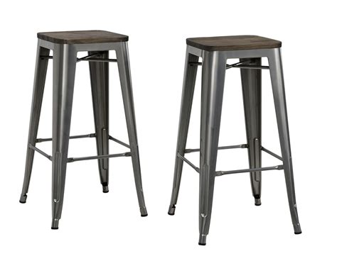 Kmart Bar Stool Set by Dorel Fusion Gun Metal 30 Quot Metal Backless Bar Stool With