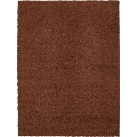 Unique Loom Solid Shag Chocolate Brown 9 Ft X 12 Ft Rug 12 Foot Rug