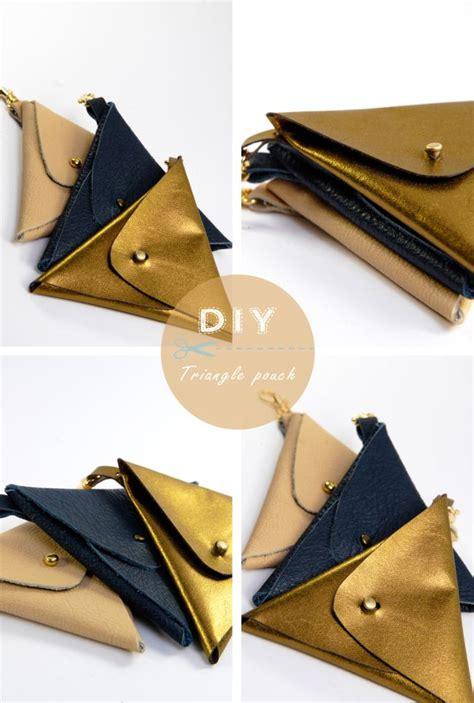 Tuto Porte Monnaie Triangle by Tuto Du Porte Monnaie Triangle Leather Pouch Triangles