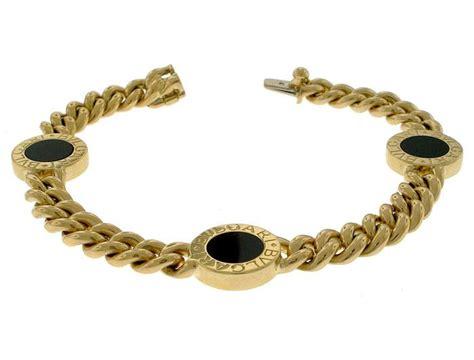 Bangle Bvlgari Black Dots Chain Gold Bangle bulgari bvlgari 18k gold black onyx unisex s bracelet chain link ebay