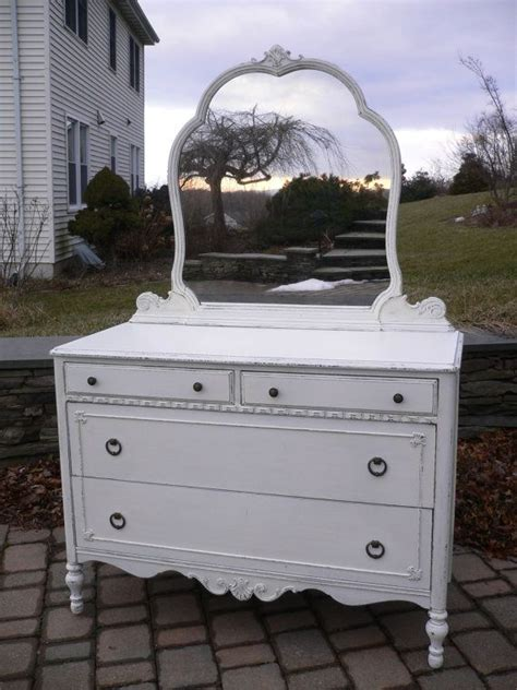 for ashley chic and shabby white dresser with mirror