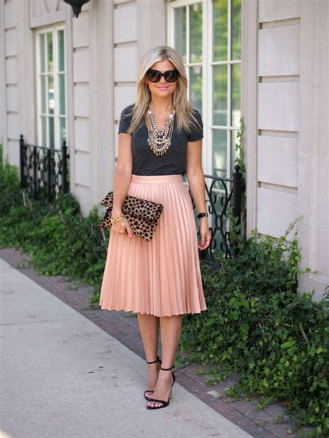 20 style tips on how to wear a pleated skirt ideas
