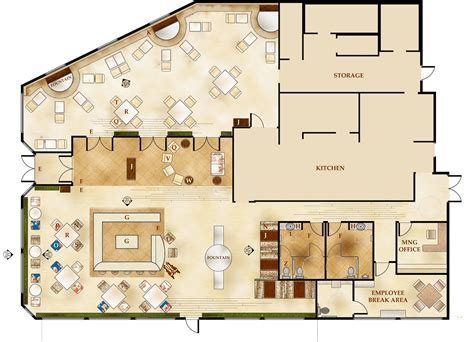cafe operation layout giovanni italian restaurant floor plans architecture