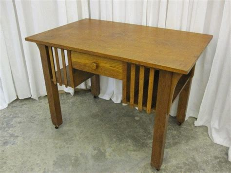 antique mission oak desk for sale antique oak library table desk mission arts crafts for