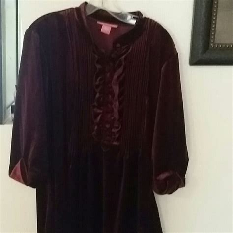 61 within tops luxurious wine colored velvety