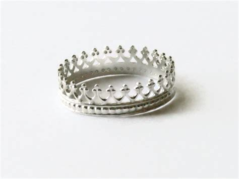 Crown Sterling Silver Ring silver crown ring sterling silver ring princess ring sterling