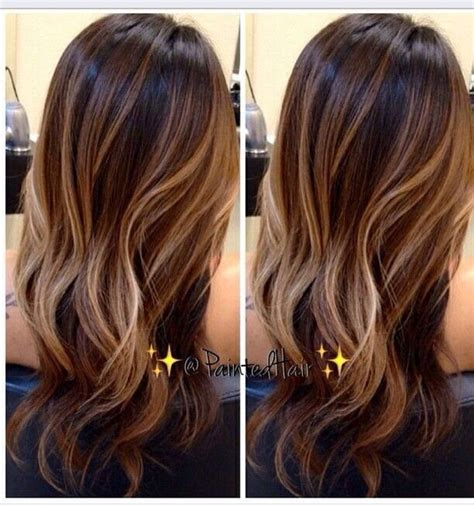 ecaille hair brunette caramel balayage balayage ecaille pinterest