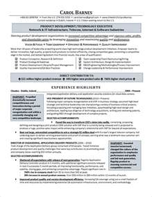 Executive Summary Exle Resume by Executive Summary Resume Sles Sle Resumes