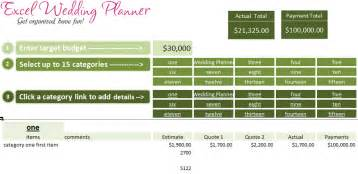 free excel wedding planner template download today