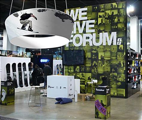 hanging banners from ceiling tapered design hanging banner overhead trade show graphics