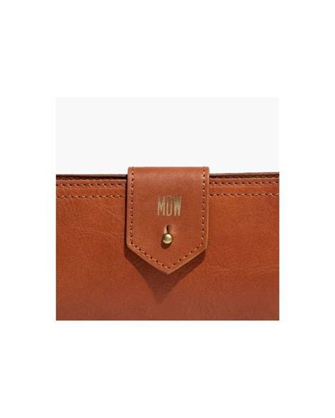 madewell  post wallet  brown lyst