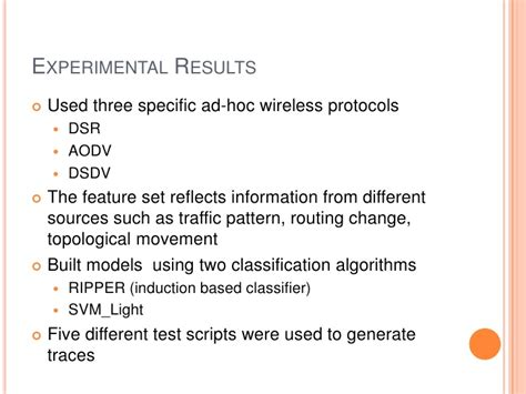 pattern classification in wireless networks intrusion detection techniques for mobile wireless networks