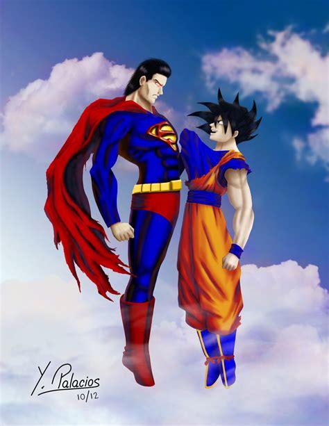 imagenes goku vs superman goku vs superman by yakve on deviantart