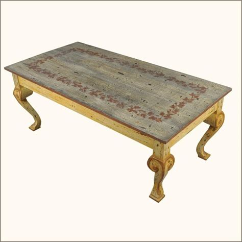 Coffee Tables Painted Oklahoma Farmhouse Painted Distressed Coffee Table Traditional Coffee Tables