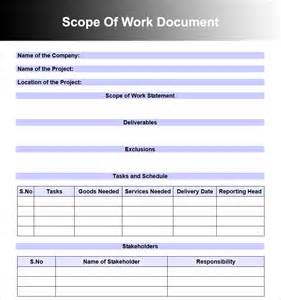 scope document template scoping document template scope document template project