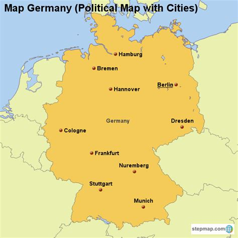 map of germany with cities in germany map with cities