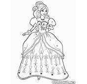 Coloring Page  Barbie In The Lush Dress