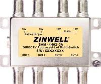 Multiswitch 4x4 zinwell sam 4402 3a 4x4 satellite dish multi switch outdoor tv antenna digital signal 4