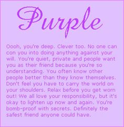 what does my favorite color tell about me 1000 images about purple on pinterest purple quotes
