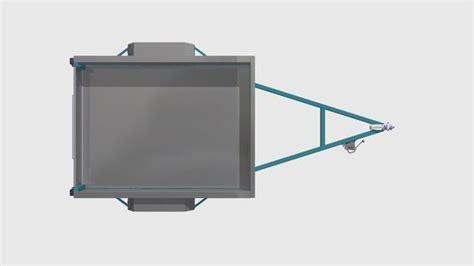 Single Level Home Plans 7x5 box trailer plans build your own box trailer fabplans