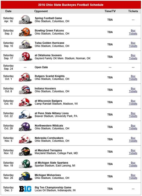 printable uk schedule 2016 ohio state buckeyes football schedule 2016 ohio