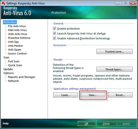 Kaspersky Antivirus For File Server how to create a configuration file in kaspersky anti virus