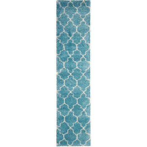 2 X 7 Runner Rug Nourison Amor2 Aqu 22x76 2 2 Quot X 7 6 Quot Aqua Runner Rug Furniture Superstore Nm Rugs
