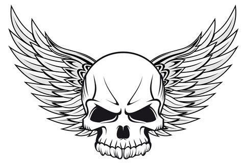 skull with wings tattoo skull tattoos for