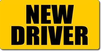 car for new driver new driver magnetic car sign