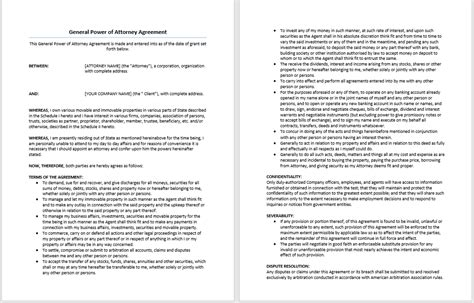 in principle agreement template agreement in principle template general power of attorney