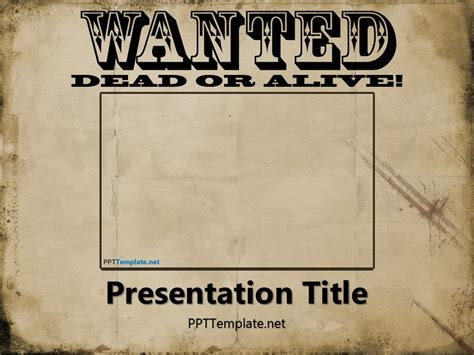 wanted poster templates free wanted dead or alive powerpoint template